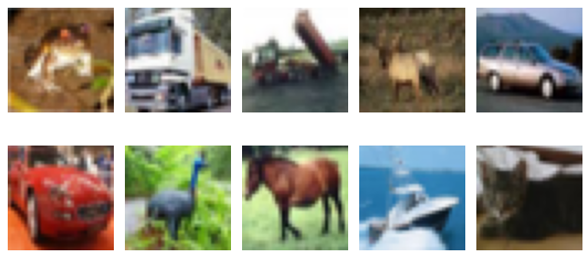 example images of the CIFAR10 dataset